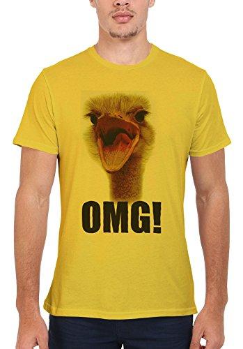 Ostrich OMG Funny Men Women Damen Herren Unisex Top T Shirt Licht Gelb