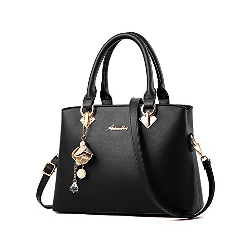 Tisdaini Damenhandtaschen Mode Schultertaschen PU Leder Shopper Umhängetaschen -