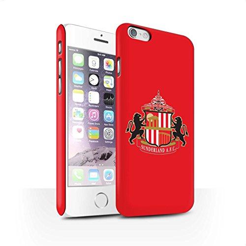 Offiziell Sunderland AFC Hülle / Matte Snap-On Case für Apple iPhone 6S / Pack 6pcs Muster / SAFC Fußball Crest Kollektion Rot
