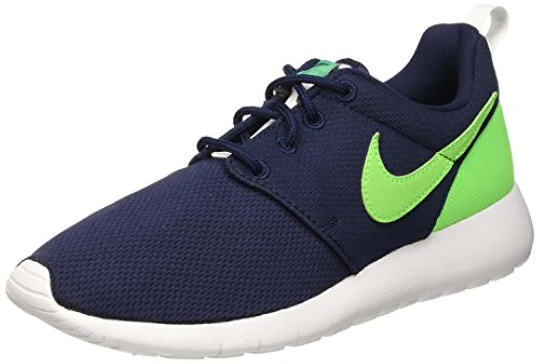 Nike Roshe One (GS), Boys' running Shoes, Black / Green / White (Obsidian / Vltg Grn Grn-LCD-Wht), 3.5 UK (36 EU)