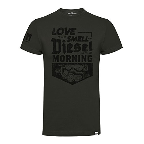 Diesel Power DPG Gear T-Shirt Smell of Diesel Grey, Grau, M