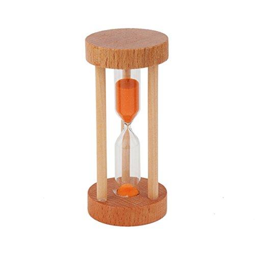 Multicolor Sablier minuteur - Wood minuterie de sable pour les enfants à la maison et à l'école, horloge de sable Sablier minuteur - Couleur aléatoire Livraison 9.5x4.3cm 3min