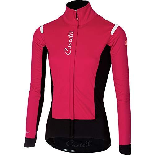 Castelli Radfahren Weste (Castelli Damen Jacke Alpha Ros, Damen, Electric Magenta/Black, Small)