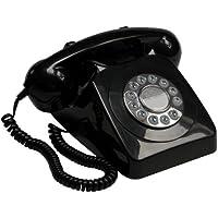GPO 746 - Telefono a pulsanti, stile retro, con suoneria autentica, colore: nero