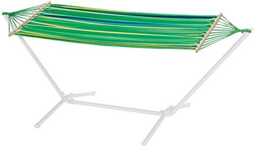 FLORABEST Hängematte mit stabilem Metallgestell, grün