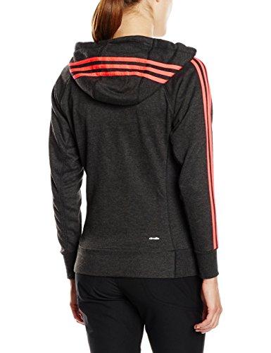 Adidas sweat-shirt à capuche pour femme essentials 3S L Noir - Black Vime/Flash Red