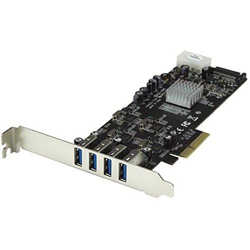 USB 3.0 SuperSpeed PCI Express Schnittstellenkarte mit 4 5Gb/s Kanälen und UASP - SATA/LP4 Strom ()