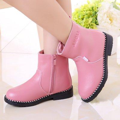 Ohmais Enfants Fille Chaussure bottes et bottines pink
