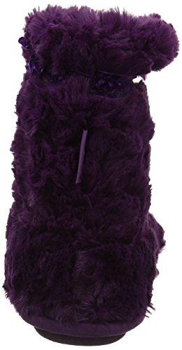 Botte En Fourrure D'isotoner Avec Pantoufles En Ruban, Pantofole A Stivaletto Donna Viola (violet)