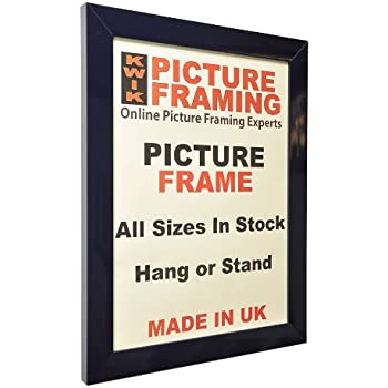 Kwik Picture Framing: Navy Blue 30mm wide Picture & Photo Frames (A4 ...