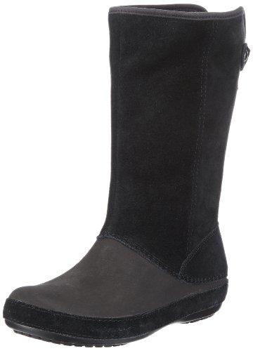 Crocs Berryessa Suede Boot W, Stivali, Donna, Nero (Bkbk), 36-37