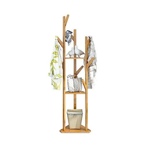 Garderobenständer Duo Garderobe-freier stehender Eingangs-hölzerner Kleidungs-Gestell-Hut-Eckhallen-Regenschirm-Stand-Baum für Schlafzimmer-Wohnzimmer-Büro Kleiderständer