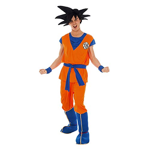Z Ball Erwachsene Kostüm Für Dragon - Chaks Son Goku-Herrenkostüm Lizenz von Dragonball Z orange M