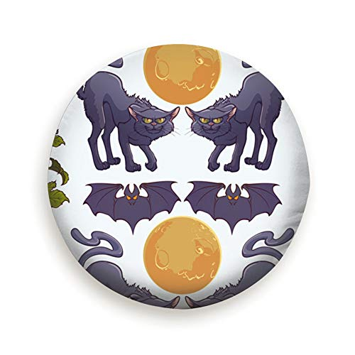 Huabuqi Halloween Schwarze Katzen Fledermäuse Urlaub Kunst Menschen Universal Reserverad Typ Abdeckung Radabdeckungen 14 Zoll