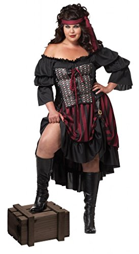 California Costumes Piratenkostüm Größe Damen (Pirate Wench Kostüm Plus)