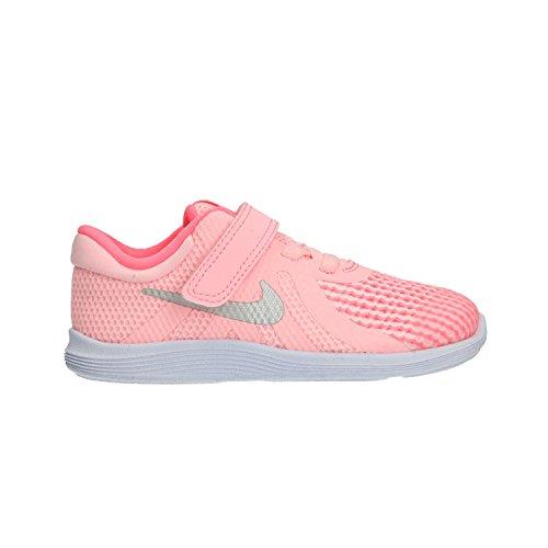 Nike Unisex-Kinder Revolution 4 (TDV) Laufschuhe, Pink (Arctic Punch/Metalli 600), 25 EU