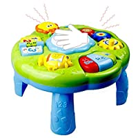 Musical Table Baby,Play and Learn Activity Table Oyuncak Early Education Baby Toddle Music Activity Center Game Learning Table Detachable Hand Drum Desk