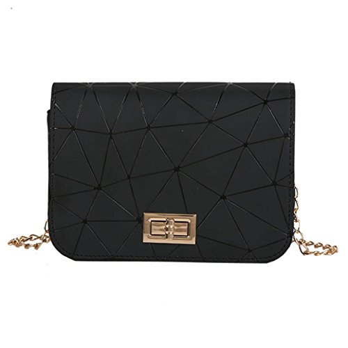 SANFASHION Damen mode Leder Crossbody Tasche Splice Schultertasche Messenger Bag