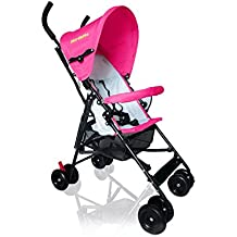 MirthMe Light Weight Baby Buggy / Stroller (Hot Pink)