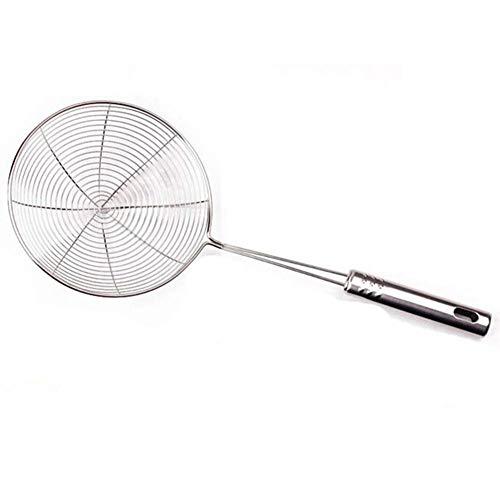 Vektenxi Premium Qualität Edelstahl Suppe Speiseschöpflöffel Löffel Sieb Küche Filter Silber