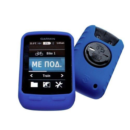 Tuff-Luv Silikon Schutzhülle Tasche für Garmin Edge Touring / Edge Touring Plus - Blau