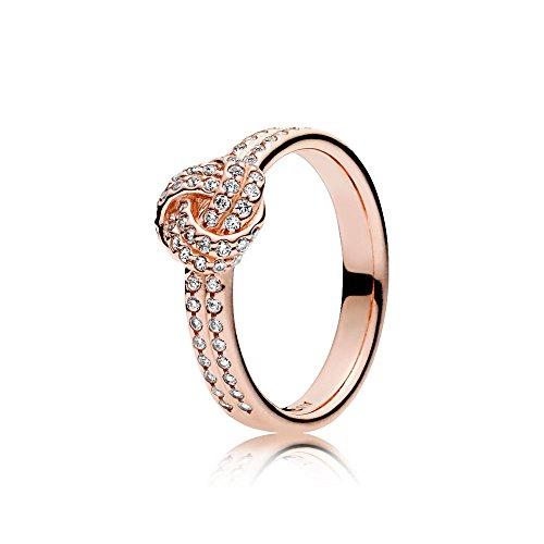 Pandora Damen-Motivring Silber_vergoldet mit \'- Ringgröße 54 (17.2) 180997CZ-54