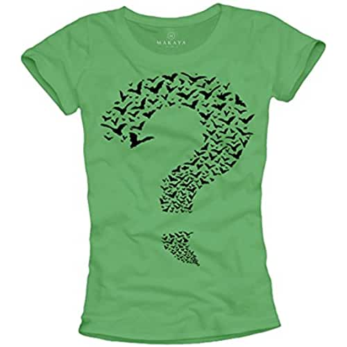 dia del orgullo friki Murciélago - Camiseta Interrogante mujer