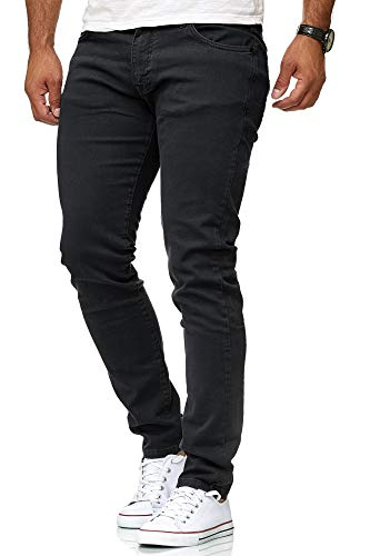 Red Bridge Herren Jeans Hose Slim-Fit Röhrenjeans Denim Colored Schwarz W30 L32 -