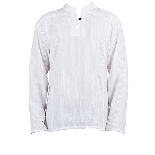Fisherman Shirt Ben,White, M, Longsleeve