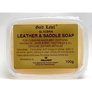 Gold Label Saddle Soap, 100g - Glycerin soap to use for cleaning saddles, clothing, handbags, upholstery, footwear and… 7