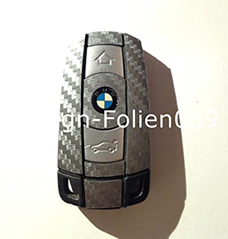 Carbon film de protection d'écran, anthracite/motif clés key bMW série