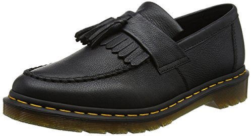 Dr. Martens Adrian Black Virginia, Mocassini Donna, Nero, 40 EU