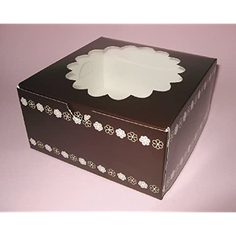 15,24 cm caja de dulces 7,62 cm, Altura 2 cajas por cada paquete recubrimiento de PVC Veiwing ventana diseño de flores