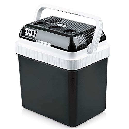 24L Dual-Core-Auto-Kühlschrank Auto Dual-Use-kleiner Kühlschrank Schlafsaal Kühlschrank Insulin Kühlbox,Black