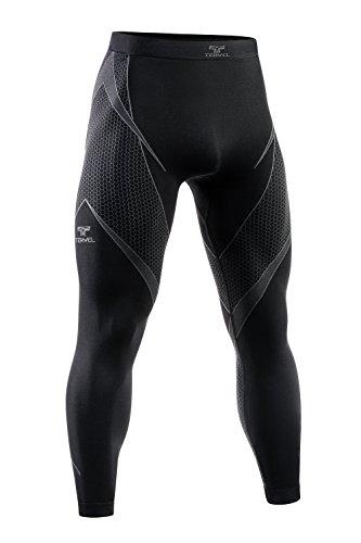 Tervel OPTILINE Funktionshose schwarz grau L - Herren Leichte Lange Unterhose Böden