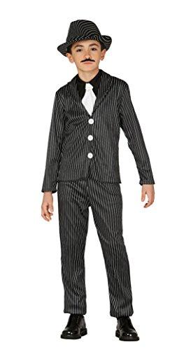 Imagen de guirca  disfraz de ganster, talla 10 12 años, color negro 83328