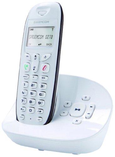 Sagem D270A - Teléfono fijo e inalámbrico con terminal adicional, color blanco [Importado de Francia]