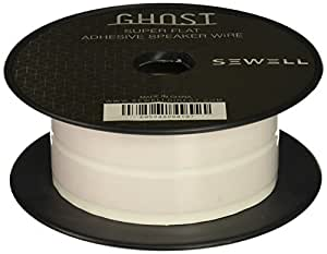 Sewell Super Flat Adhesive Speaker Wire, 16 AWG, 2 Conductor, 50 ft. Spool, White