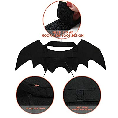 Rorchio 1 Pack Halloween Pet Bat Wings Cat Dog Bat Costume Halloween Pet Costumes Accessories for Small Dogs and Cats by Rorchio