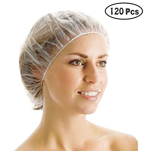 chhauben, 120 Stücke Shower Caps Kunststoff Wasserdichte Klar Duschhauben Bad Dusche Haarkappen für Frauen Spa Hotel Friseursalon Heimgebrauch Tragbare Reise ()