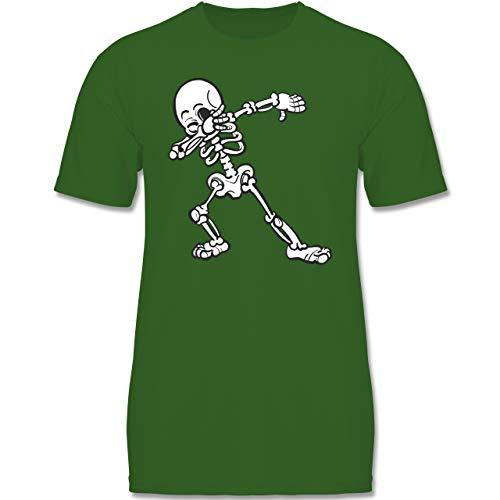 Anlässe Kinder - Dabbing Skelett - 134-146 (9-11 Jahre) - Grün - F140K - Jungen T-Shirt