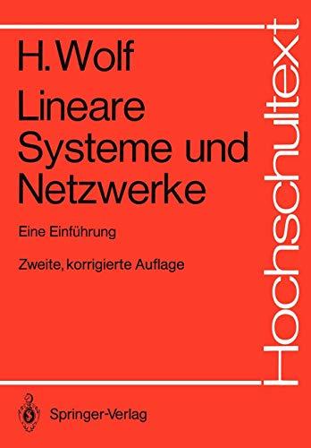 Lineare Systeme und Netzwerke: Eine Einführung (Hochschultext) (Laplace-transformation Tabelle)