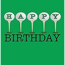 Happy Birthday Golf Grußkarte