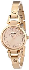 Reloj Fossil ES3268 de cuarzo para mujer, correa de acero inoxidable color oro rosa (agujas luminiscentes) de Fossil