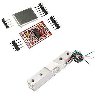 Aihasd 20KG Digitale Wägezelle Gewichtssensor Tragbar Elektronische Küchenwaage + HX711 AD Wägesensoren Wägemodul Metallschild Für Arduino