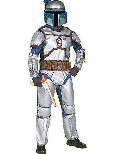 Kinder Kostüm Fett Jango (Star Wars Jango Fett Deluxe Kinderkostüm - Größe L -)