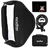GODOX 80x80cm Foldable Flash Softbox kit with S-Type Bracket Bowens Mount Holder for Camera Flash Speedlight Studio Photography (SFUV8080)
