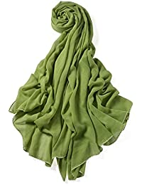 204eb2a9c695a Miobo XXL Damen Stola Schal Unifarbe 220x 140 cm in Verschiedenen Farbe aus  Viskose