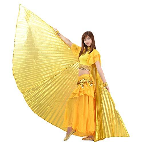 Dailyinshop Top-Qualität Bauchtanz-Fan Flügel Ägypten Tanzen Goldene Winged Bauchtanz Leistung Silver Wing Bauchtanz-Accessoires