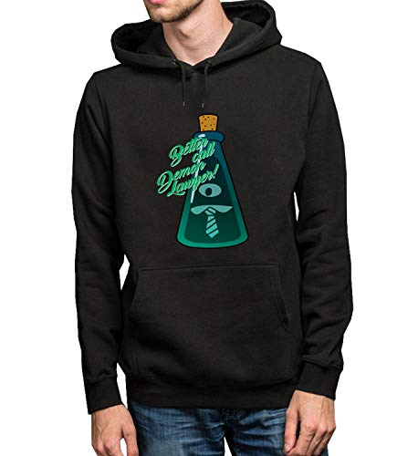 Better Call Demon Lawyer Blue Potion Bottle_R1417 Hoodie Capucha Sweater Pullover Sweatshirt Unisex Black Gift- L Black Hoodie